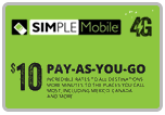 $9.95 Simple Mobile Refill Airtime Minutes