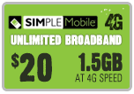 $19.89 Simple Mobile Refill Airtime Minutes