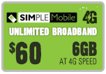 $59.59 Simple Mobile Refill Airtime Minutes