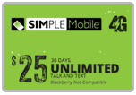 $24.89 Simple Mobile ReUp Real-Time Refill