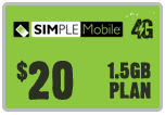 $19.89 Simple Mobile ReUp Real-Time Refill