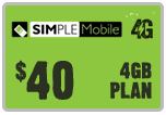 $39.79 Simple Mobile ReUp Real-Time Refill