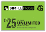 Buy the $25.00 Simple Mobile ReUp Real Time Refill Minutes | On SALE for Only $24.89
