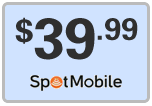 Buy the $39.99 Spot Mobile Refill Minutes Instant Prepaid Airtime | On SALE for Only $39.99
