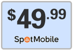 Buy the $49.99 Spot Mobile Refill Minutes Instant Prepaid Airtime | On SALE for Only $49.99