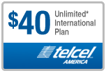 $39.89 TelCel America Refill Airtime Minutes
