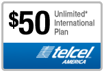 $49.88 TelCel America Refill Airtime Minutes