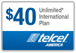 Buy the $40.00 TelCel America Refill Minutes Instant Prepaid Airtime | On SALE for Only $39.89