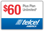 Buy the $60.00 TelCel America Refill Minutes Instant Prepaid Airtime | On SALE for Only $59.89