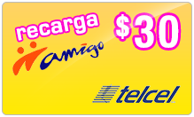 $30.00 TelCel Mexico Real-Time Refill