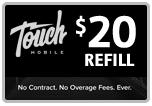 $19.95 Touch Mobile Refill Airtime Minutes