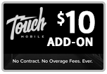 $9.99 Touch Mobile Refill Airtime Minutes