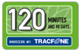 120 Tracfone Wireless Airtime Minutes (90 Days)