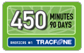 450 Tracfone Wireless Airtime Minutes (90 Days)