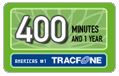 400 Tracfone Wireless Airtime Minutes (1 Year)