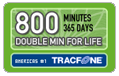 800 Tracfone Minutes and Double Minutes for Life (1 Year)