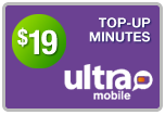 Buy the $59.00 Ultra Mobile Top-Up Refill Minutes | On SALE for Only $58.89