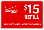 Buy the $15.00 Verizon Prepaid Refill Minutes Instant Prepaid Airtime | On SALE for Only $14.89