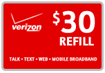 Buy the $30.00 Verizon Prepaid Refill Minutes Instant Prepaid Airtime | On SALE for Only $29.79