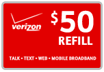 Buy the $50.00 Verizon Prepaid Refill Minutes Instant Prepaid Airtime | On SALE for Only $49.59
