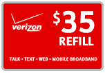 Buy the $35.00 Verizon Prepaid Refill Minutes Instant Prepaid Airtime | On SALE for Only $34.79