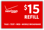 <s>$15.00</s> $14.89 Verizon Prepaid Real Time Refill Minutes