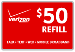 <s>$50.00</s> $49.59 Verizon Prepaid Real Time Refill Minutes