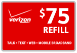 <s>$75.00</s> $74.39 Verizon Prepaid Real Time Refill Minutes
