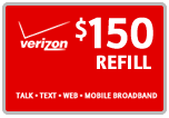 <s>$150.00</s> $147.99 Verizon Prepaid Real Time Refill Minutes