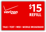 Buy the $15.00 Verizon Prepaid Real Time Refill Minutes | On SALE for Only $14.89