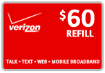 Buy the $60.00 Verizon Prepaid Real Time Refill Minutes | On SALE for Only $59.59