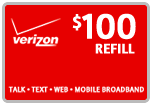 Buy the $100.00 Verizon Prepaid Real Time Refill Minutes | On SALE for Only $98.99