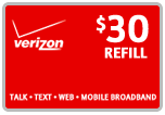 Buy the $30.00 Verizon Prepaid Real Time Refill Minutes | On SALE for Only $29.79