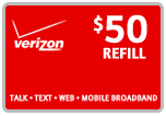 Buy the $50.00 Verizon Wireless<sup>&reg;</sup> Real Time Refill Minutes | On SALE for Only $49.59