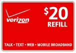 Buy the $20.00 Verizon Prepaid Real Time Refill Minutes | On SALE for Only $19.89