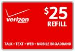 Buy the $25.00 Verizon Prepaid Real Time Refill Minutes | On SALE for Only $24.79