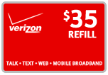 Buy the $35.00 Verizon Prepaid Real Time Refill Minutes | On SALE for Only $34.69