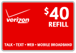 Buy the $40.00 Verizon Prepaid Real Time Refill Minutes | On SALE for Only $39.69