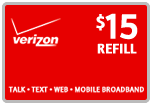 $14.89 Verizon Prepaid Real-Time Refill