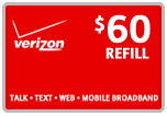 $59.59 Verizon Prepaid Real-Time Refill