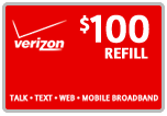 $98.99 Verizon Prepaid Real-Time Refill