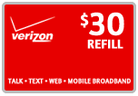 $29.79 Verizon Prepaid Real-Time Refill