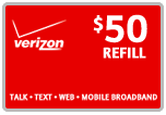 $49.59 Verizon Prepaid Real-Time Refill