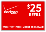 $24.79 Verizon Prepaid Real-Time Refill