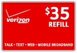 $34.69 Verizon Prepaid Real-Time Refill