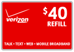 $39.69 Verizon Prepaid Real-Time Refill