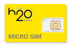 H2O Wireless Micro SIM Cards