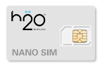 H2O Wireless Nano SIM Cards