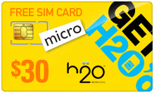 Buy the $39.99 H2O Wireless Micro SIM Cards | On SALE for Only $29.89