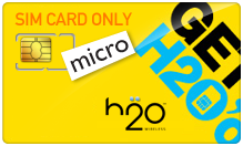 $2.99 H2O Wireless Micro SIM Cards